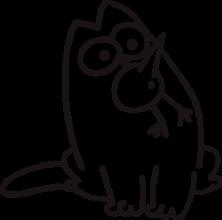 На автомобиль Наклейка «Кот Саймона с птичкой»Кошки<br><br>