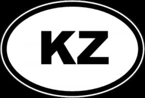 На автомобиль Наклейка «KZ - Казахстан»Автомобильные<br><br>