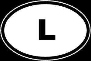 На автомобиль Наклейка «L - Люксембург»Автомобильные<br><br>
