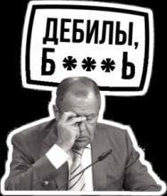 На автомобиль Наклейка «Лавров, дебилы»Разные<br><br>