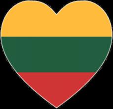 На автомобиль Наклейка «Литва сердце»Страны и путешествия<br><br>