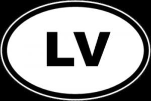 На автомобиль Наклейка «LV - Латвия»Автомобильные<br><br>