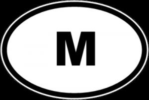 На автомобиль Наклейка «M - Мальта»Автомобильные<br><br>