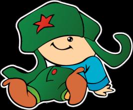 На автомобиль Наклейка «Мальчик в ушанке»Ко Дню Победы<br><br>