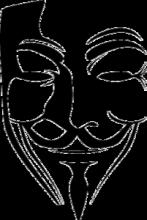 На автомобиль Наклейка «Маска Гая Фокса»Кино и TV<br><br>