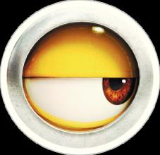 На автомобиль Наклейка «Миньон Глаз»Мультики<br><br>