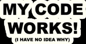 На автомобиль Наклейка «My Code Works»Декор<br><br>