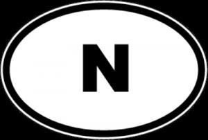 На автомобиль Наклейка «N - Норвегия»Автомобильные<br><br>