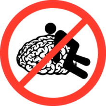На автомобиль Наклейка «Не бибите мне мозг!»Знаки<br><br>