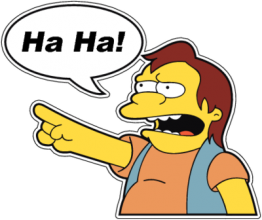 На автомобиль Наклейка «Nelson Muntz Ha-ha»Симпсоны<br><br>