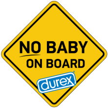 На автомобиль Наклейка «No Baby on Board»Мужские<br><br>