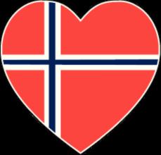 На автомобиль Наклейка «Норвегия сердце»Страны и путешествия<br><br>