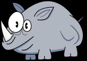 На автомобиль Наклейка «Носорог глазастый»Глазастые<br><br>