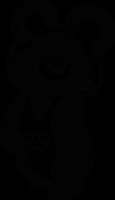 На автомобиль Наклейка «Олимпийский мишка»СССР<br><br>
