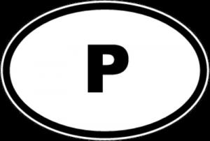 На автомобиль Наклейка «P - Португалия»Автомобильные<br><br>