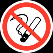 На автомобиль Наклейка «P-01 Запрещается курить»Запрещающие<br><br>