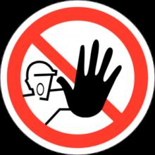 На автомобиль Наклейка «P-06 Доступ посторонним запрещен»Запрещающие<br><br>