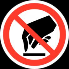 На автомобиль Наклейка «P-08 Запрещается прикасаться. Опасно»Запрещающие<br><br>