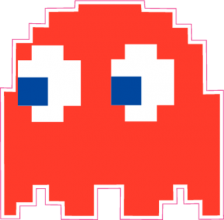 На автомобиль Наклейка «Pacman Blinky»Pacman<br><br>