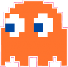 На автомобиль Наклейка «Pacman Clyde»Pacman<br><br>