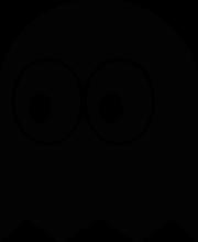На автомобиль Наклейка «Pacman Ghost»JDM<br><br>