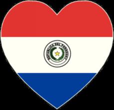 На автомобиль Наклейка «Парагвай сердце»Страны и путешествия<br><br>
