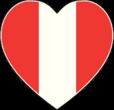 На автомобиль Наклейка «Перу сердце»Страны и путешествия<br><br>