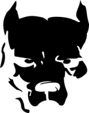 На автомобиль Наклейка «pitbull face»Smotra<br><br>