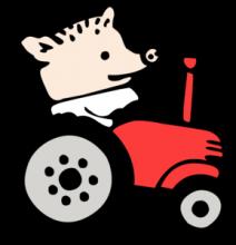 На автомобиль Наклейка «Поросёнок Пётр»Страны и путешествия<br><br>