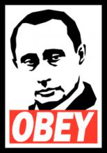 На автомобиль Наклейка «Putin Obey»Разные<br><br>