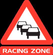 На автомобиль Наклейка «Racing Zone»Racing<br><br>