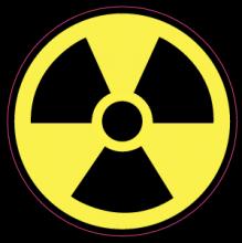 На автомобиль Наклейка «Радиация»Знаки<br><br>