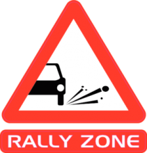 На автомобиль Наклейка «Rally Zone»Racing<br><br>