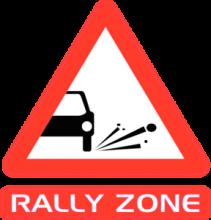 На автомобиль Наклейка «Rally Zone»Racing<br><br>