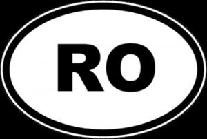 На автомобиль Наклейка «RO - Румыния»Автомобильные<br><br>