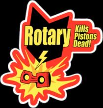 На автомобиль Наклейка «Rotary Kills Pistons Dead»JDM<br><br>