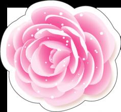 На автомобиль Наклейка «Роза цветная»День Святого Валентина<br><br>