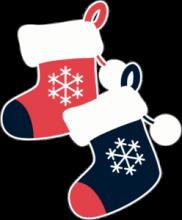 На автомобиль Наклейка «Рождественские носки»Новогодние<br><br>