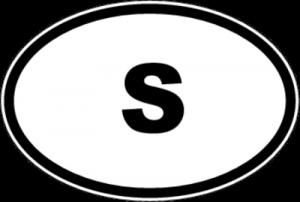 На автомобиль Наклейка «S - Швеция»Автомобильные<br><br>