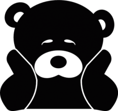 На автомобиль Наклейка «Sad Bear»Разные<br><br>