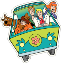 На автомобиль Наклейка «Scooby Doo Car»Мультики<br><br>