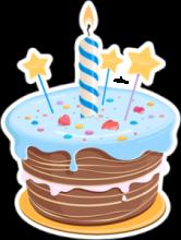 На автомобиль Наклейка «Шоколадный торт»С Днем Рождения<br><br>