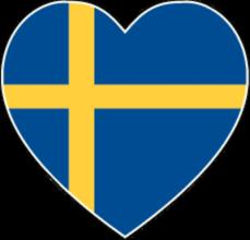 На автомобиль Наклейка «Швеция сердце»Страны и путешествия<br><br>