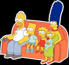 На автомобиль Наклейка «Симпсоны на диване»Симпсоны<br><br>