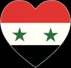 На автомобиль Наклейка «Сирия сердце»Страны и путешествия<br><br>