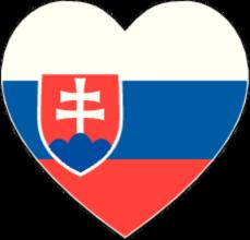 На автомобиль Наклейка «Словакия сердце»Страны и путешествия<br><br>