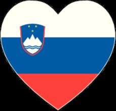 На автомобиль Наклейка «Словения сердце»Страны и путешествия<br><br>