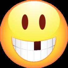 На автомобиль Наклейка «Смайлик без зуба»Разные<br><br>