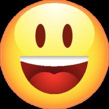 На автомобиль Наклейка «Смайлик радостный»Разные<br><br>