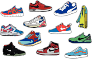 На автомобиль Наклейка «Sneakers Set»Мужские<br><br>